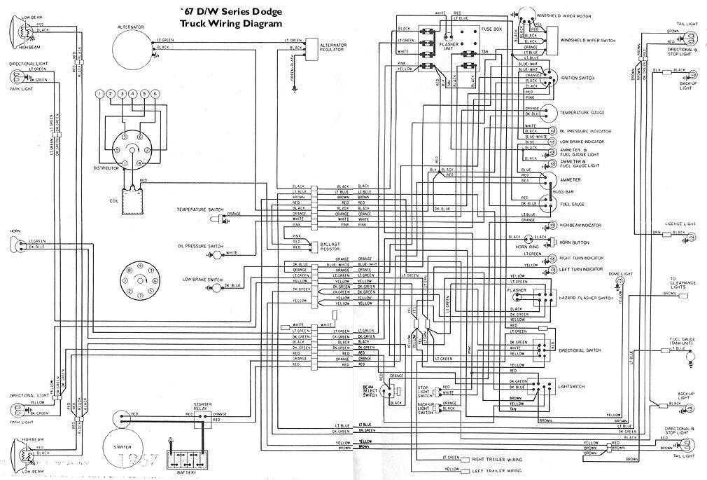 1967 D100 Wiring Schematic