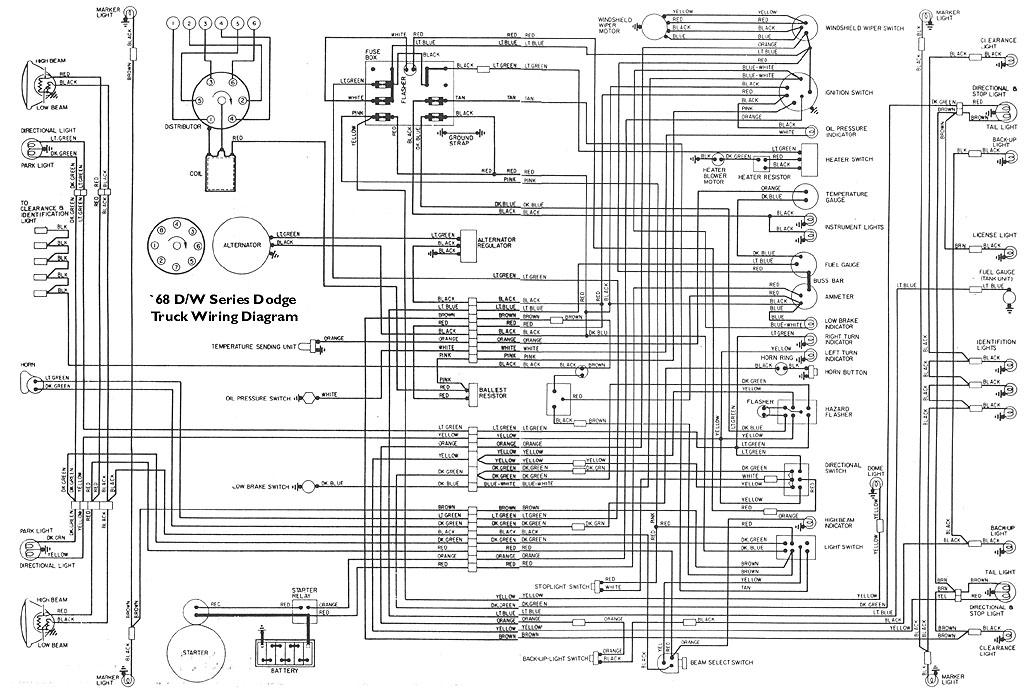 wiring       diagram    for fuse box on 68    dodge    d100  SweptlineORG